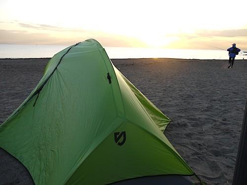 NEMO の新型テント。ちと小さかったかな