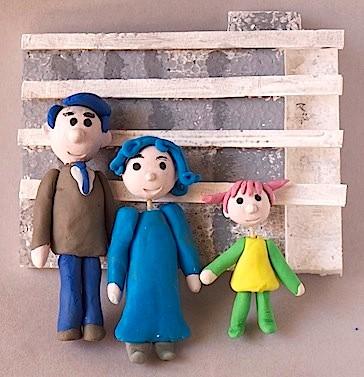 マイホーム双六(女性セブン/小学館)歳を重ねていく家族を製作