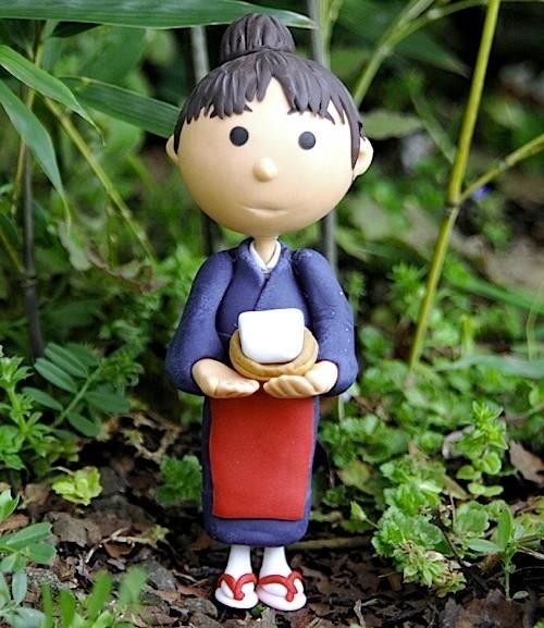 名水とうふ(親戚の豆腐店にポスタープレゼント)樹脂粘土