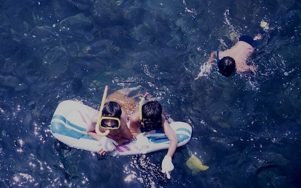 1991年8月 伊豆の小さな入り江にある、いつもの気に入り海水浴場に行った
