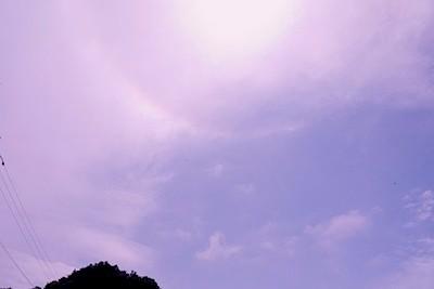 円形の虹?光彩?