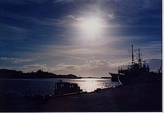 港の陽も更に眩しく