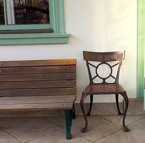 置かれていた椅子ベンチ