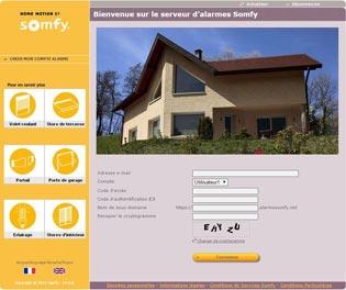 Application pour ordinateur alarme Somfy Dunkerque BR STORES vous l'installe.
