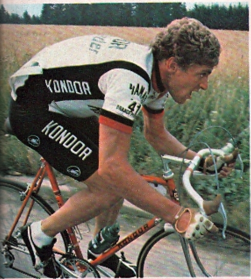 Hans Hindelang 1980 auf dem damaligen Teamrad (Bild aus dem Internet)