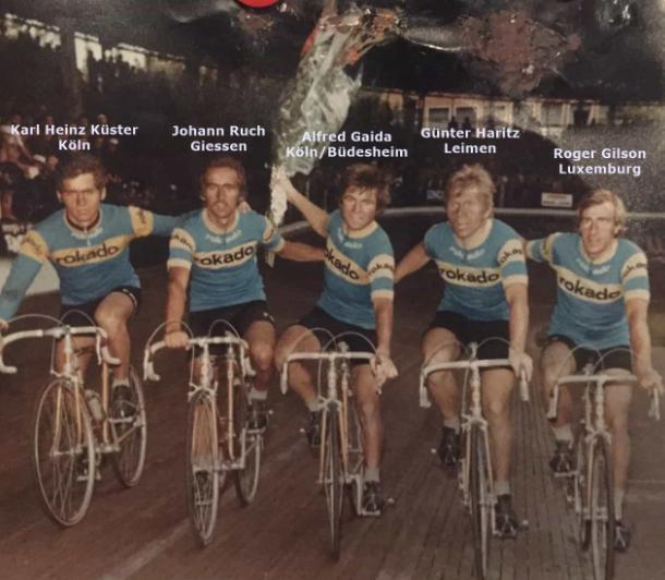 Hier vielleicht nach dem Sieg der 6. Etappe von Paris-Nitta 1974 durch Alfred Gaida