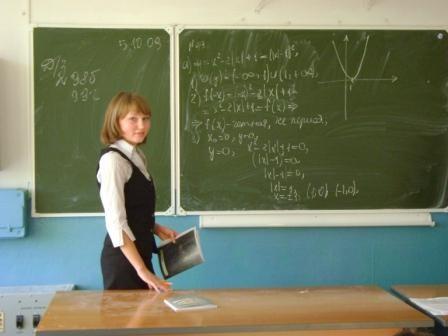 Федорова Лиана проводит урок алгебры