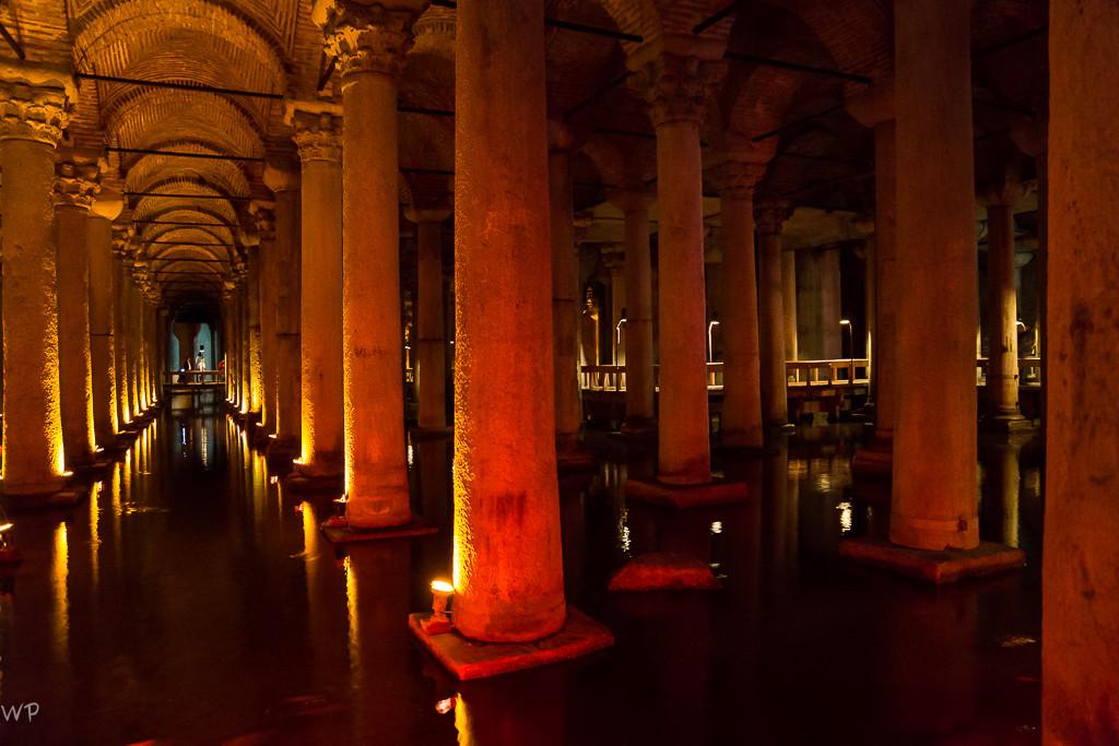 Boah! Die Cisterna Basilica, 138 Meter lang und 65 Meter breit...