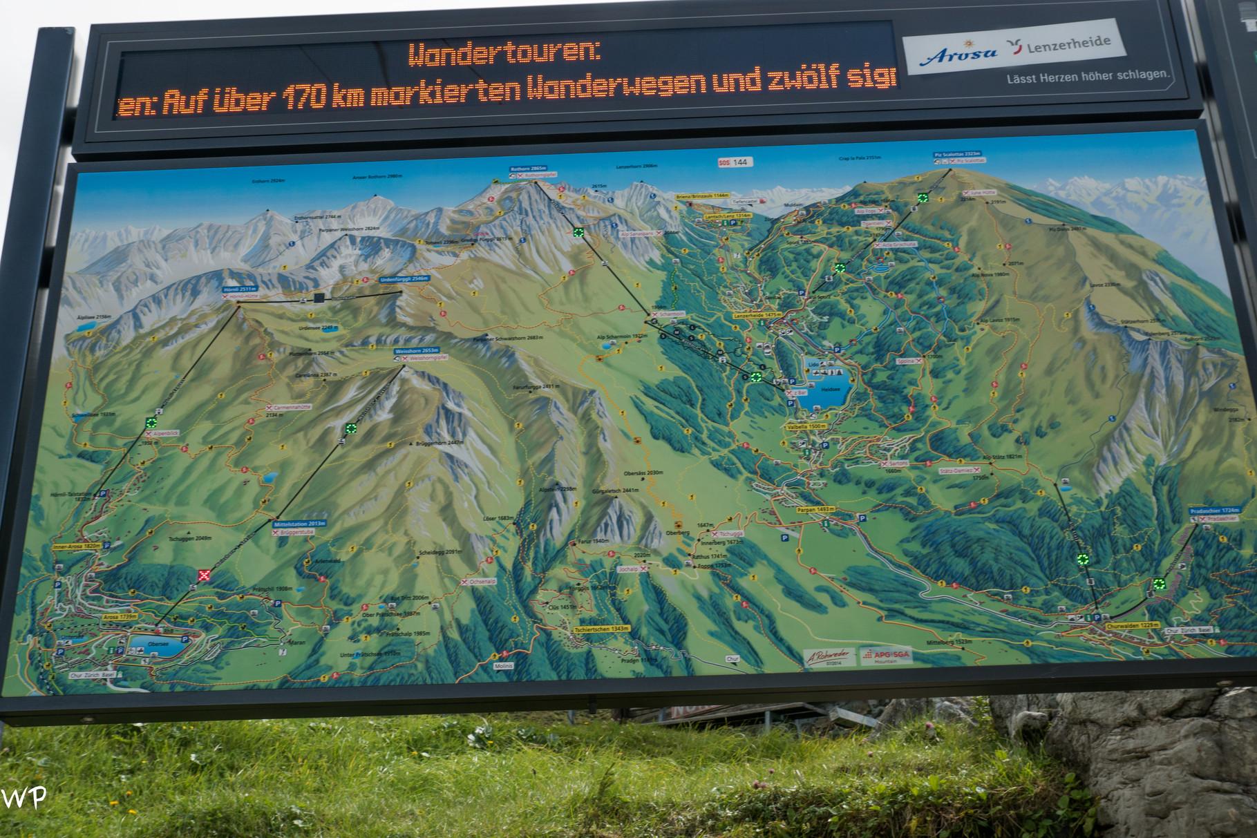 Am nächsten Tag ging es zur Gondelstation Parpaner Rothorn