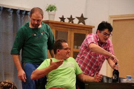 Schauspieler beim Theaterspielen - Alibi Burähof
