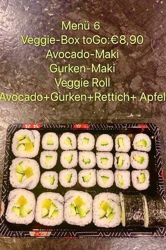 Vegetarisches Essen zum Mitnehmen