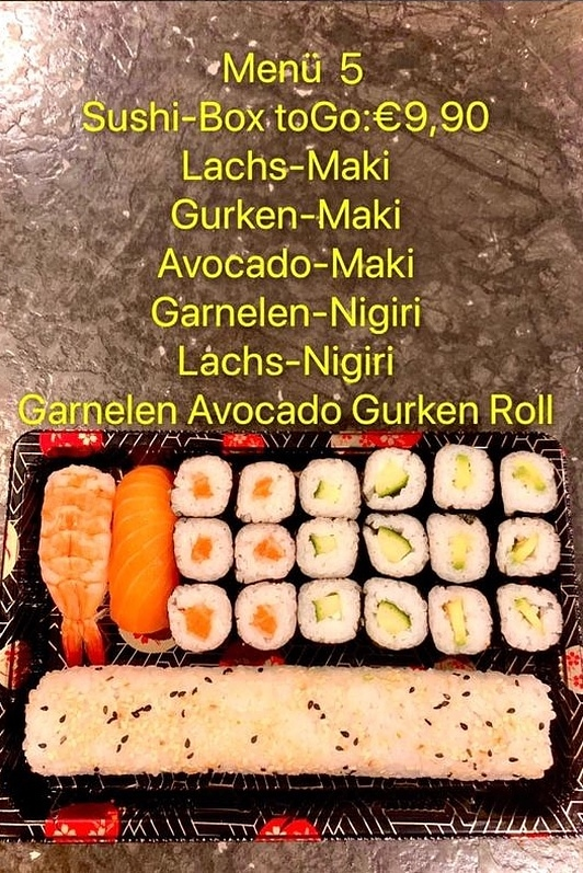 Sushi Box zum Mitnehmen