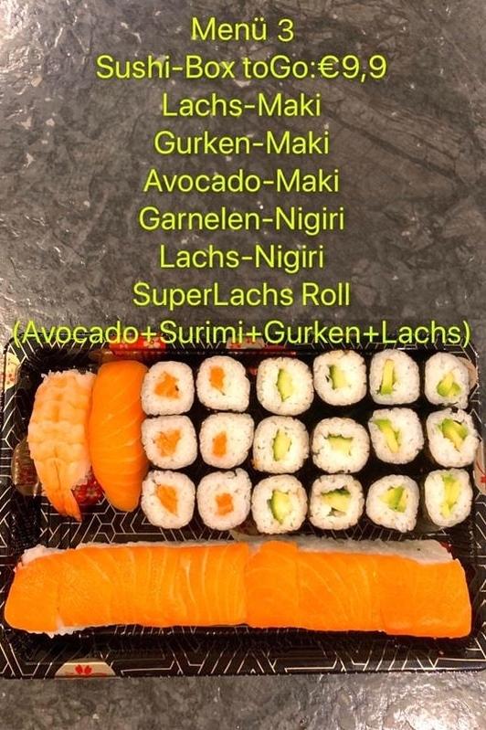 Sushi-Box zum Mitnehmen