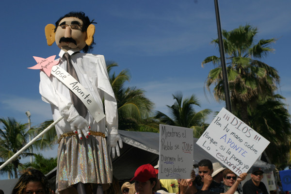 Puerto ricans protesting against national government's strike (Puerto Rico, 2006)