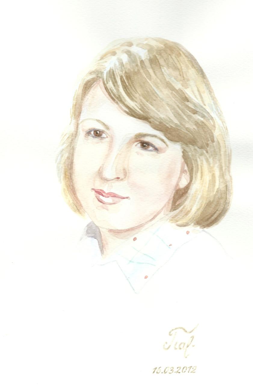 Ljuba, Aquarell, 29x21 cm