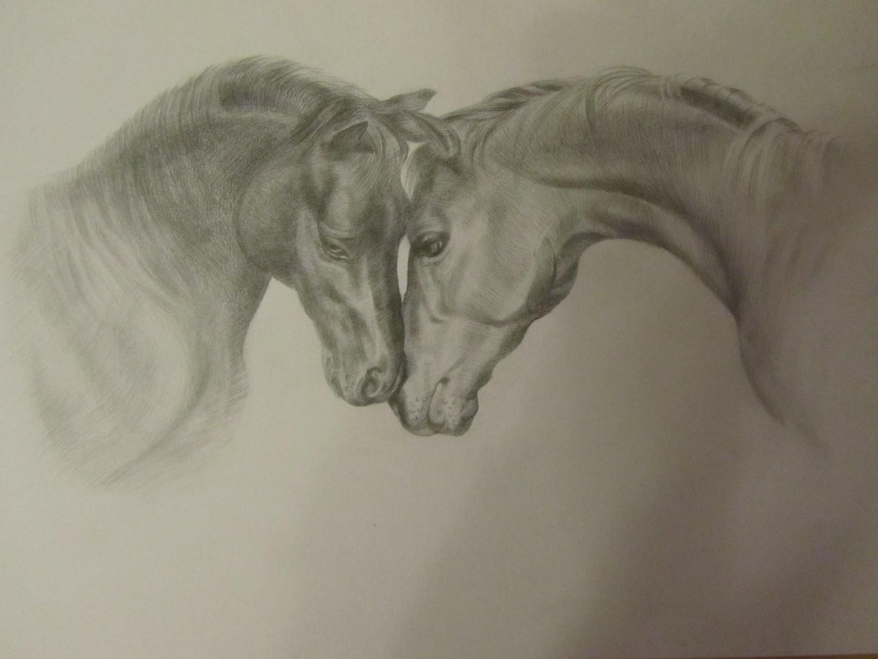 LIEBE, Bleistiftzeichnung, 29x21 cm