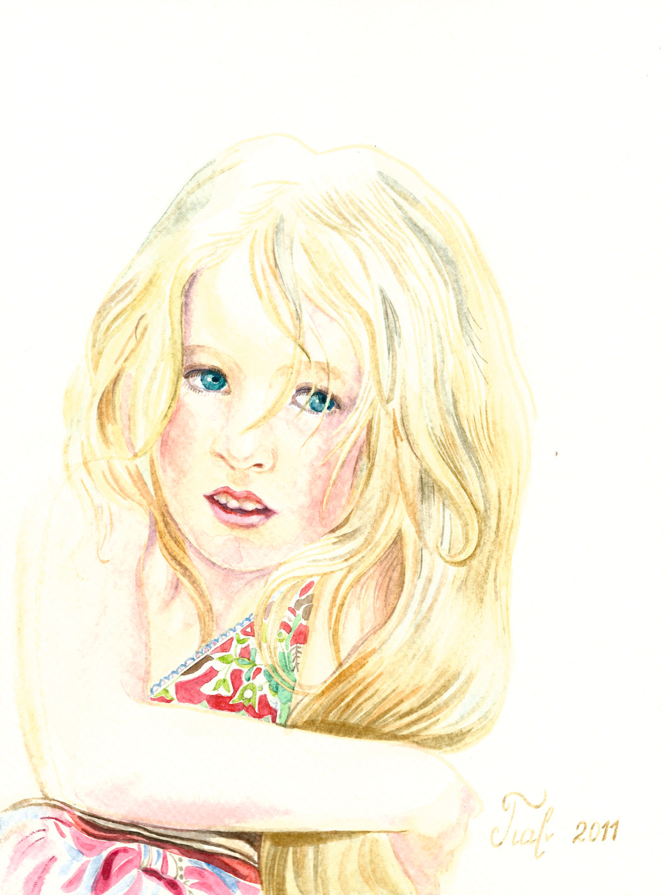 Julia, Aquarell, 18x24 cm