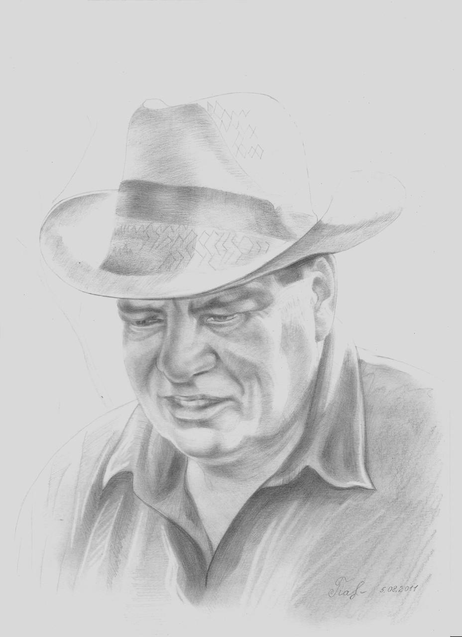 Großvater, Bleistiftgrafik, 29x21 cm