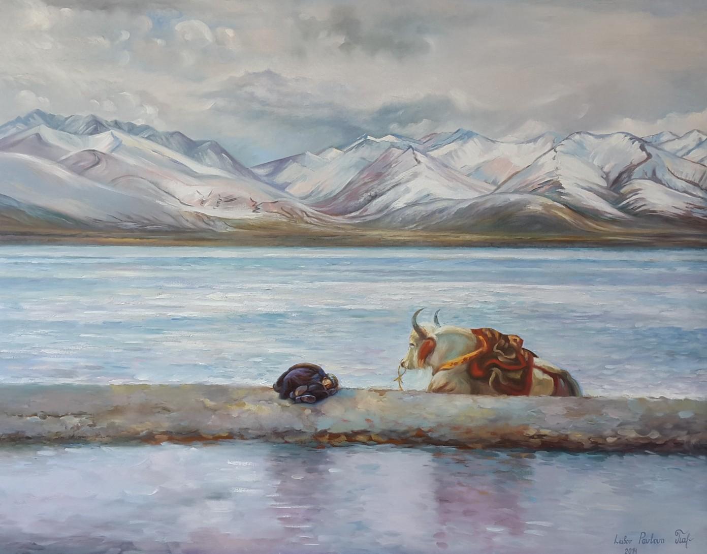 Yak, Öl auf Leinwand, 100 x 80 cm