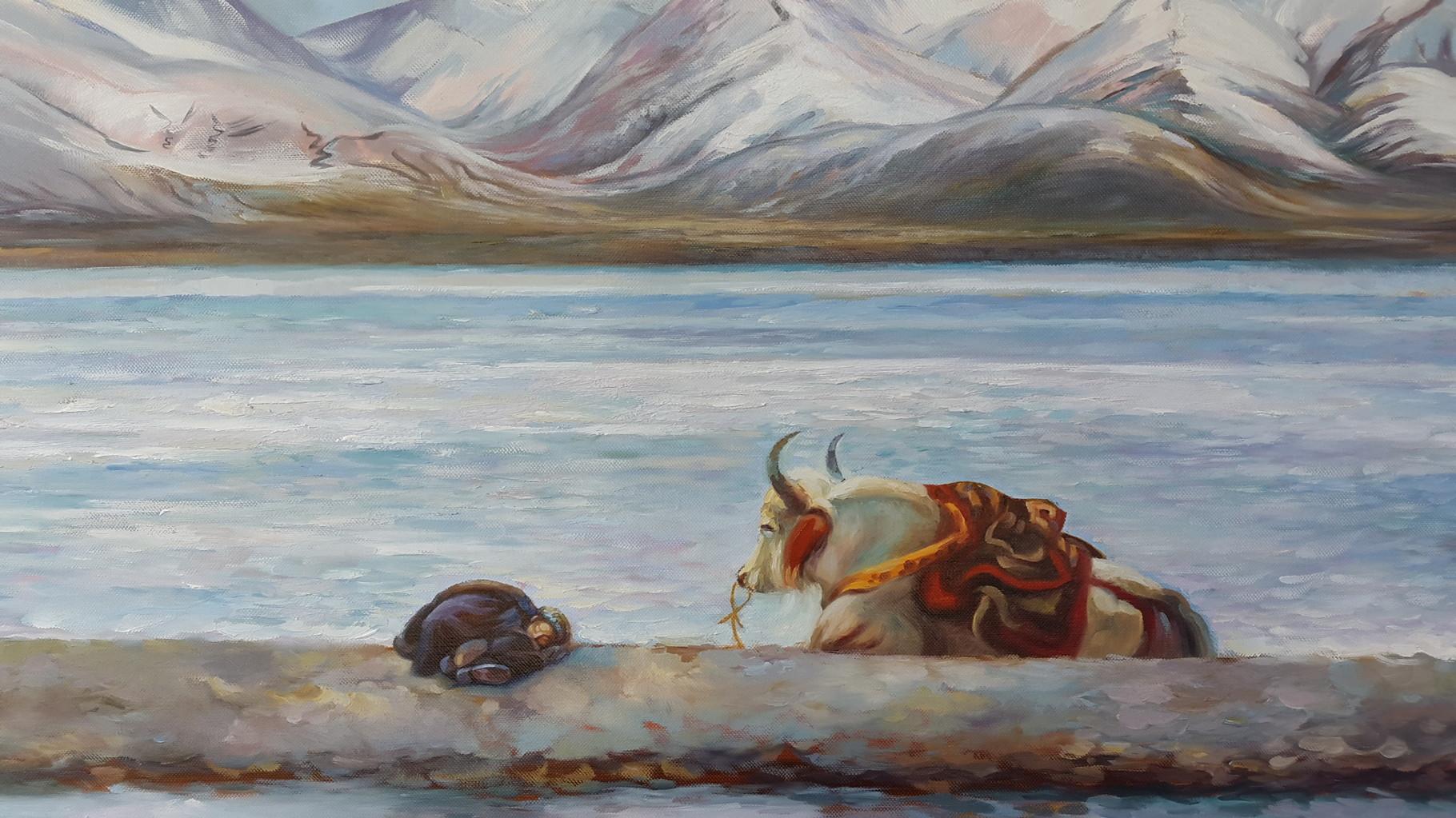 Yak (Ausschnitt), Öl auf Leinwand, 100 x 80 cm