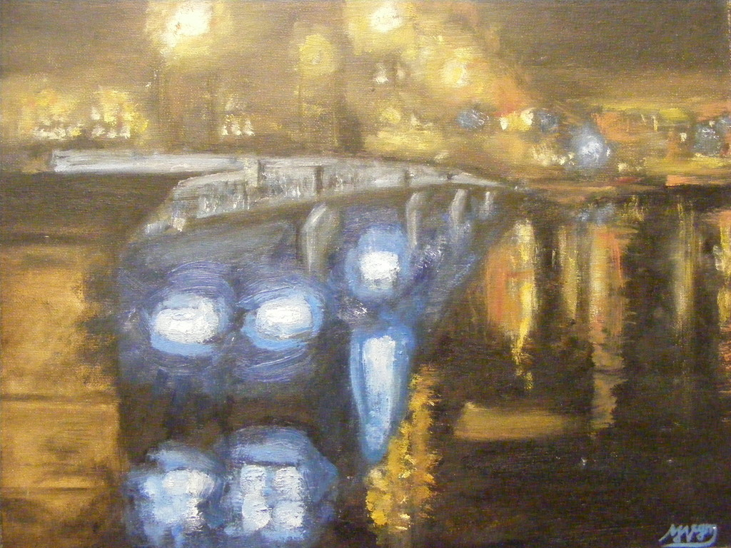 "Blue on the Clyde. 16"" x 20"". Oil on Canvas. Not for sale."