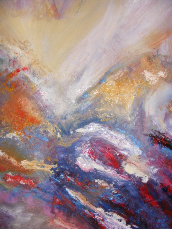 "Al Jabal, 40"" x 30"". Examining the feeling of strength and humility which mountains provoke. No longer available."