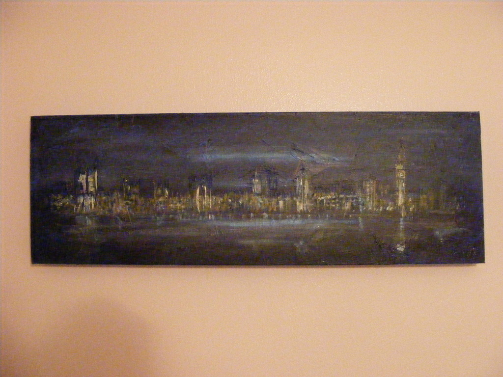 "London Cityscape, 20"" x 10"". No longer available."