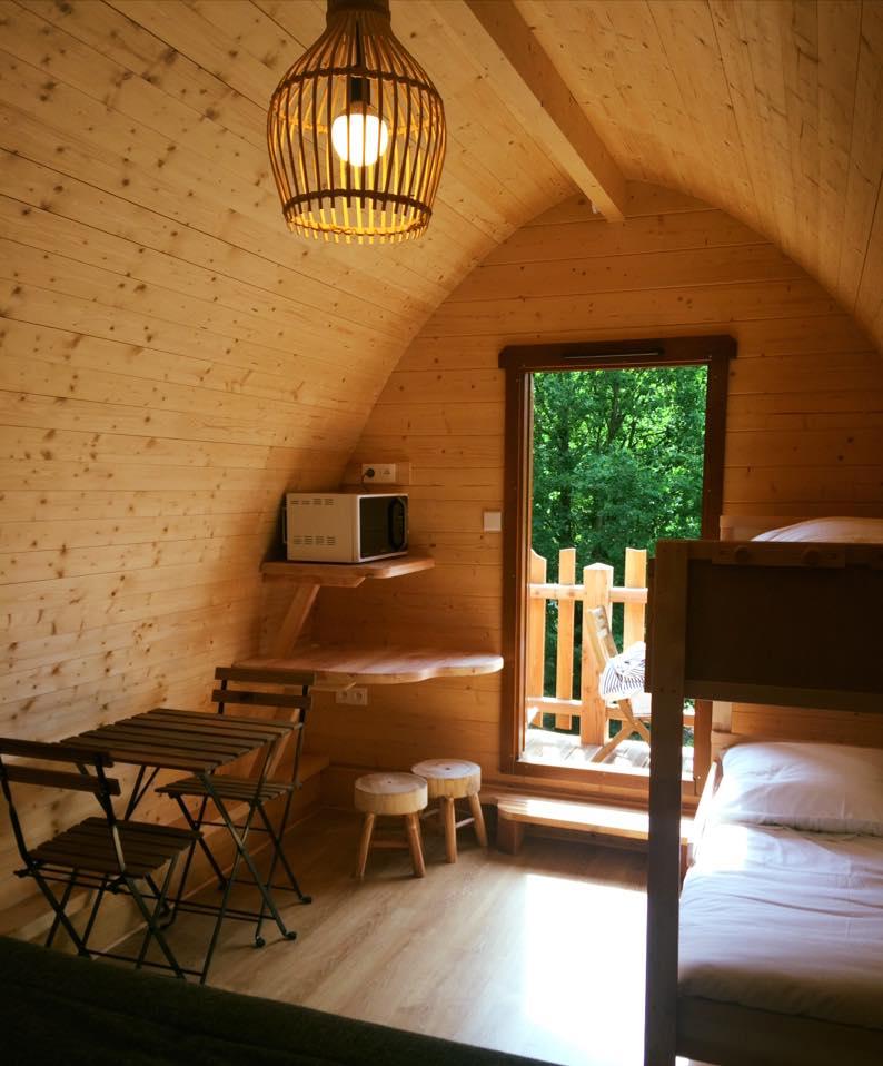 cabane sur pilotis Pod vue intérieure ici sans salle de bain