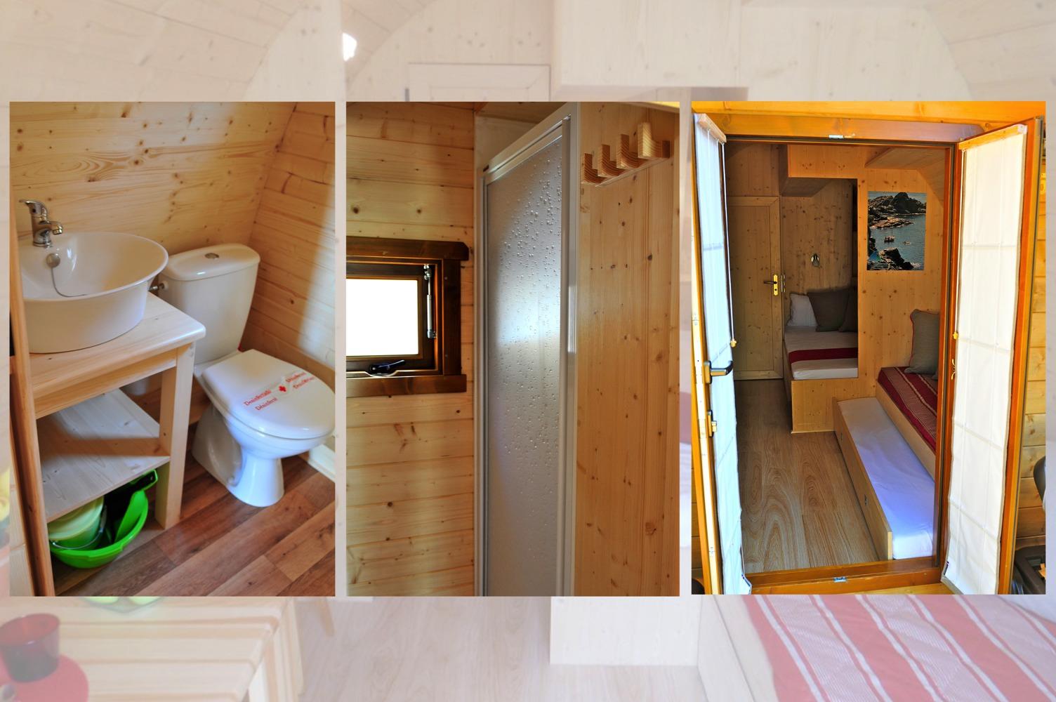 Megapod salle de bain avec douche