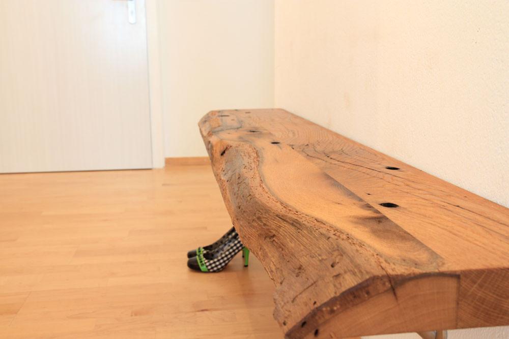 Sitzbank aus altholz lumnezia design m bel mit seele for Couch vom tischler