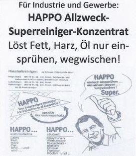 Happo Allzweck Superreiniger Konzentrat