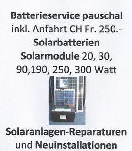 Batterieservice, Solarbatterien
