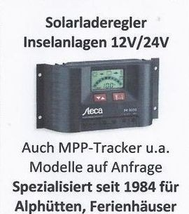 Solarladeregler Inselanlagen 12/24 Volt
