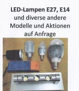 LED-Lampen, Leuchtmittell E27 E14 usw.