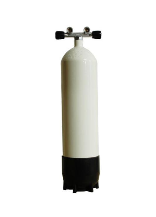 Monoflasche 12 Liter, lang 230bar, mit Twin Ventil