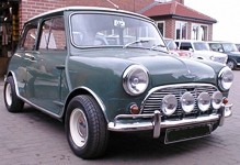 Francis Rossi (1964 Austin Mini Cooper 1071S)
