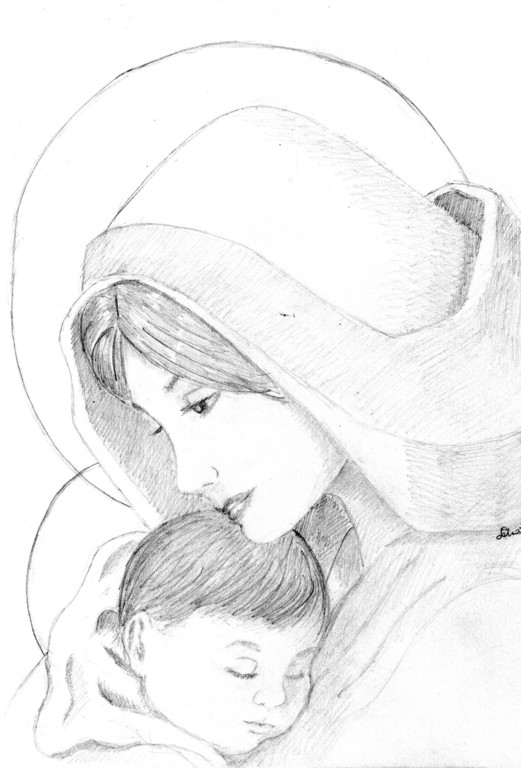 Madonna con Gesù bambino - aprile 2009
