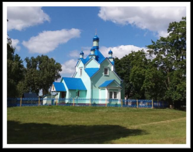 Russisch-orthodoxe Kirche in Weißrussland in einem kleinen Dorf zwischen Minsk und Brest.