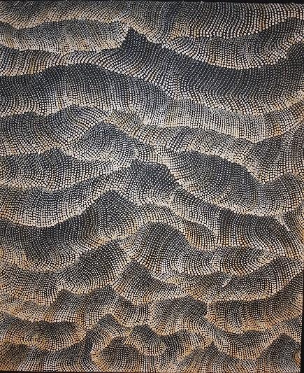 16 モリーン・ナンパジンパ 「祖母の故郷」 94x88cm
