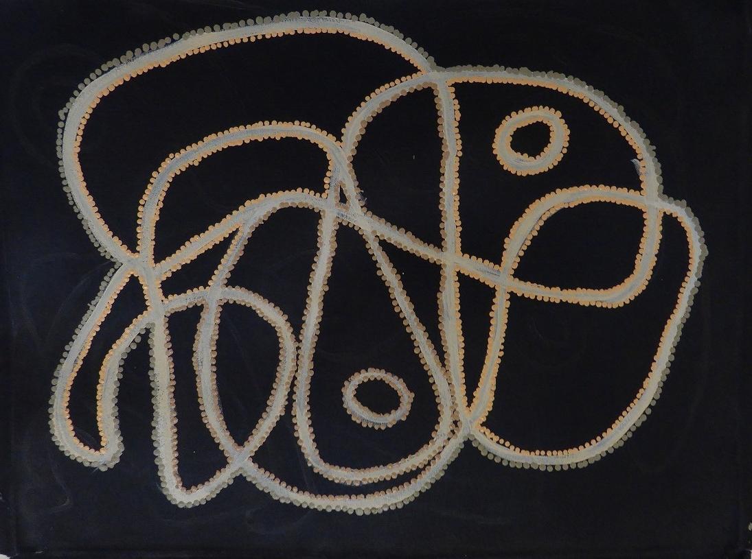 ティラウ・ナンガラ 「ウォーター・ドリーミング」 46x61cm