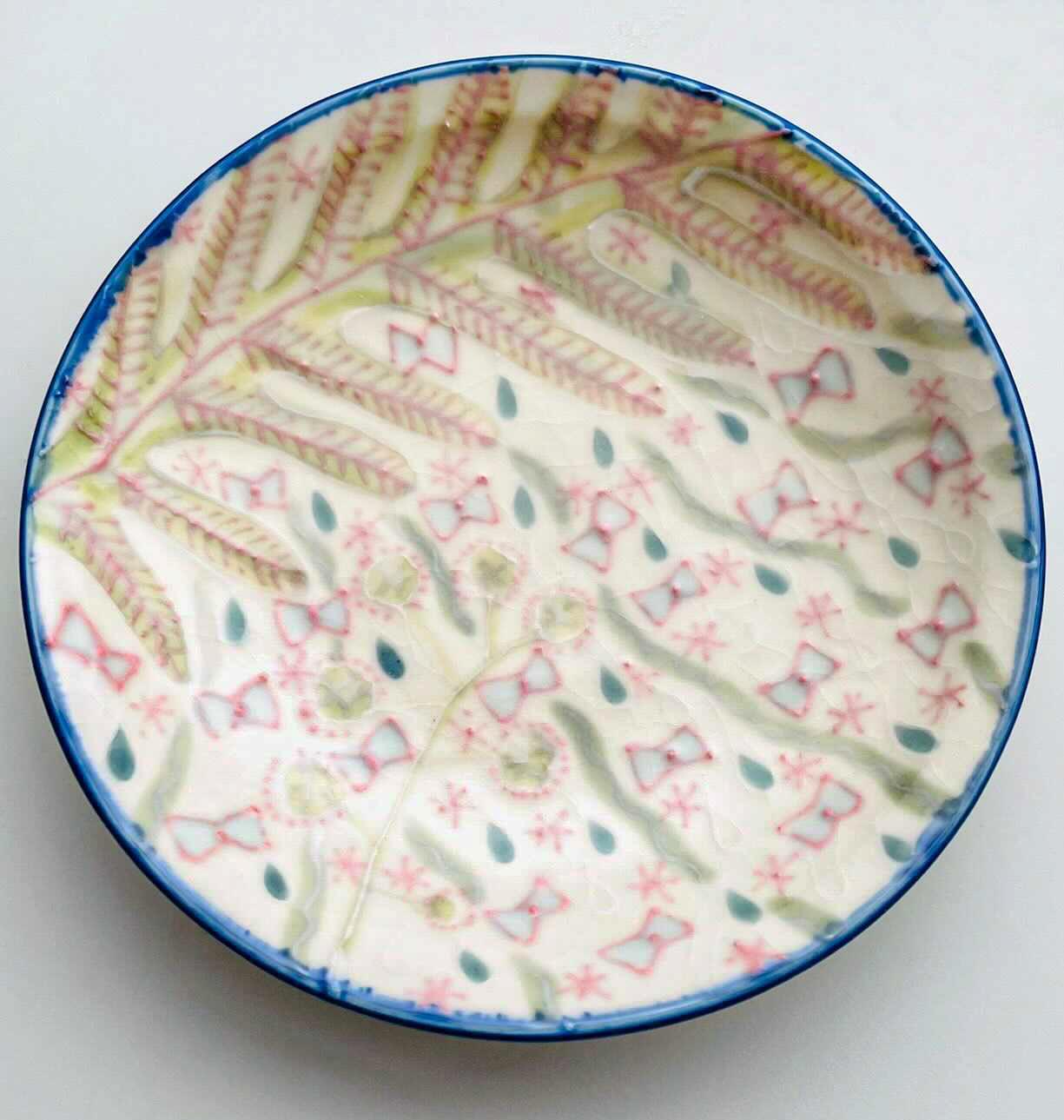 「4寸皿  Forest decoration」  陶  Φ13cm×高さ2cm