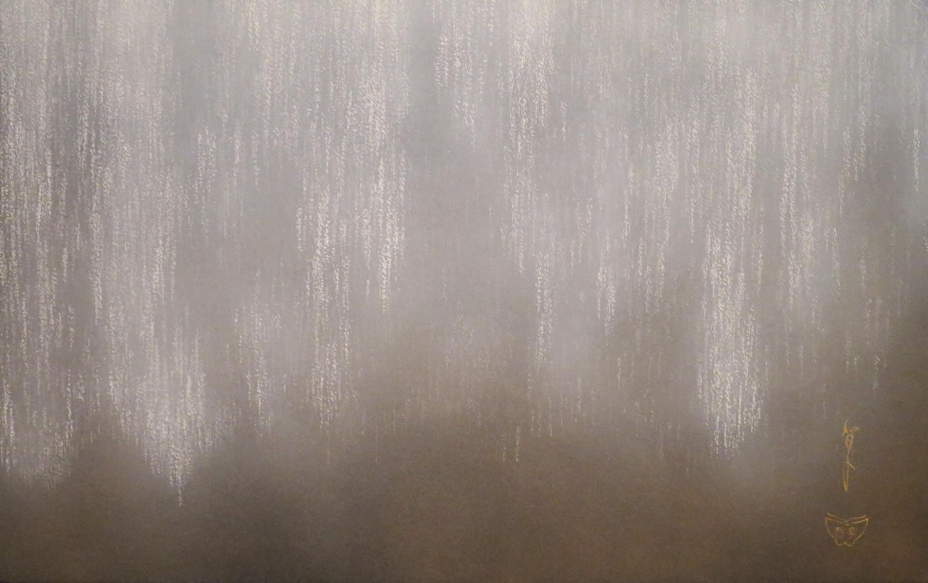 「足利大藤-白」 雲肌麻紙・岩絵具 M10 237,600円(税込)