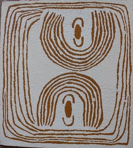 52 ユユヤ・ナンパジンパ 「女性の儀礼」 61x55cm
