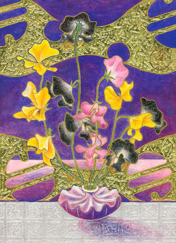 「花の扉Ⅰ」 F4号サイズ(333mm×242mm) 118,800円(税込)