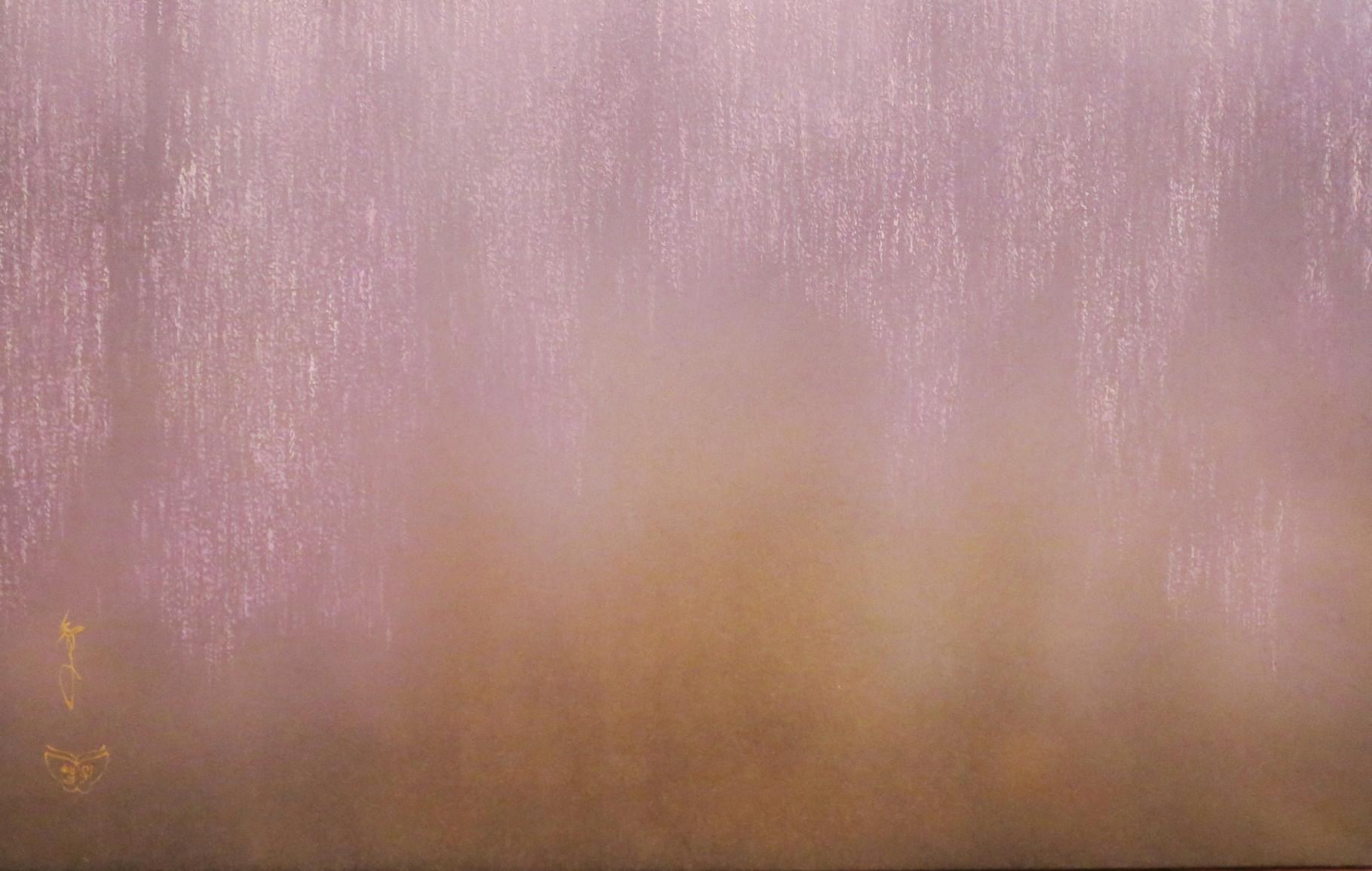 「足利大藤-紫」 雲肌麻紙・岩絵具 M10 237,600円(税込)