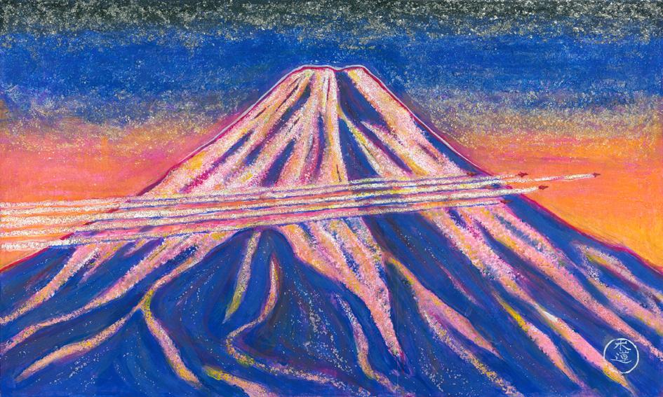 「コントレイル飛行機雲」 M8号サイズ(455mm×273mm) 211,200円(税込)