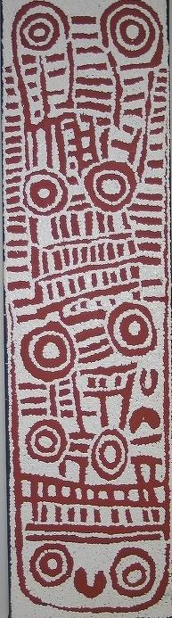 3 ウィンチャ・ナパチャリ 「女性の儀礼」 110x30cm