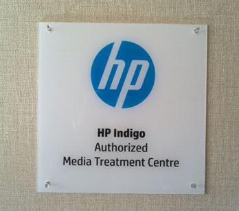 HP社公認センターを証するプレート(画像)