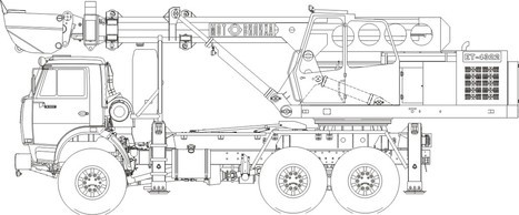 экскаватор-планировщик Камаз ЕТ-4322 характеристики