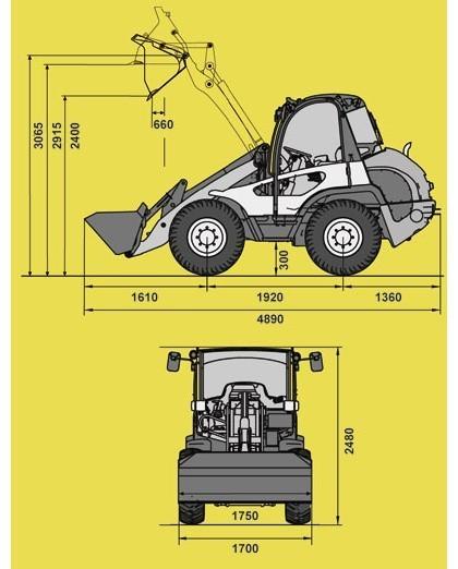 Аренда минипогрузчика Kramer Allrad 380
